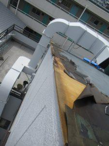 台風被害 施工写真①